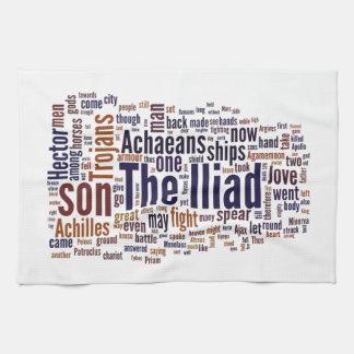 Texto del Iliad por home run Toallas De Mano