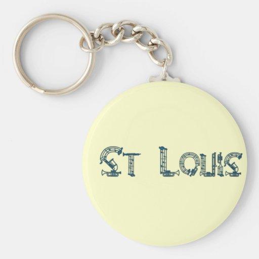 texto del instrumento de St. Louis Llavero Personalizado