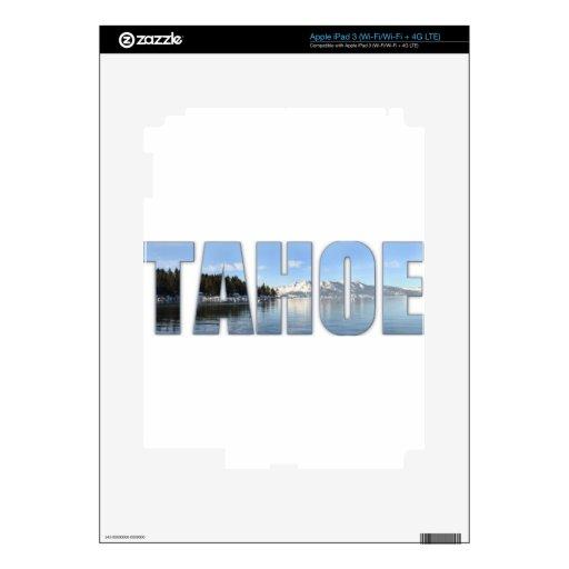 Texto del lago Tahoe iPad 3 Skins
