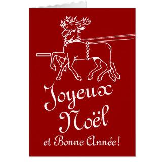 Texto del navidad del francés de las tarjetas de