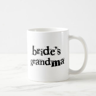Texto del negro de la abuela de la novia taza básica blanca