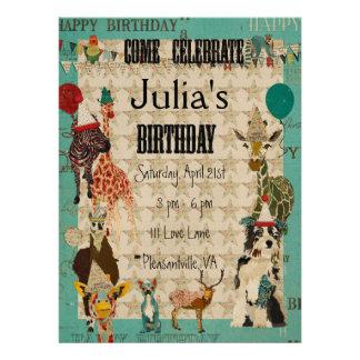 Texto del negro de la invitación del cumpleaños de
