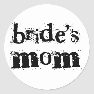 Texto del negro de la mamá de la novia pegatinas redondas