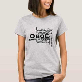 Texto del negro de la nube de la palabra de Oboe Playera