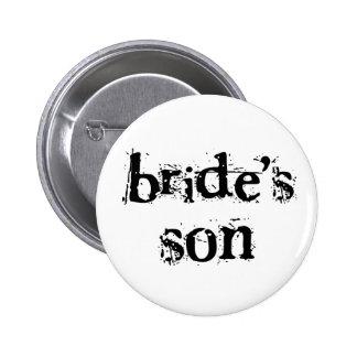 Texto del negro del hijo de la novia pin redondo 5 cm