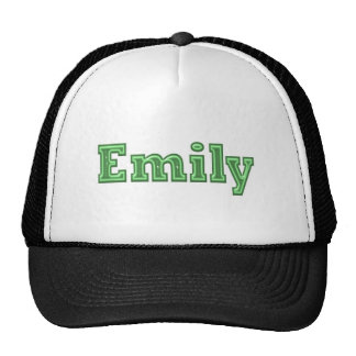 Texto del nombre del chica de EMILY Gorras