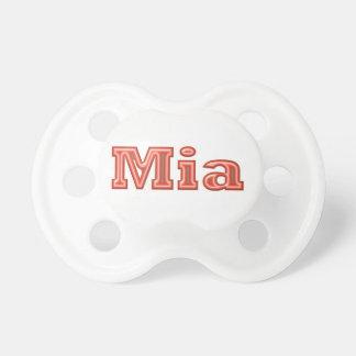 Texto   del nombre del chica de MIA Chupetes De Bebé