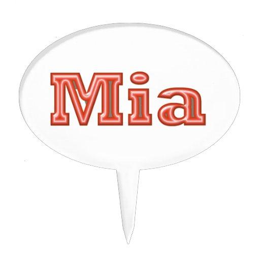 Texto   del nombre del chica de MIA Figuras De Tarta