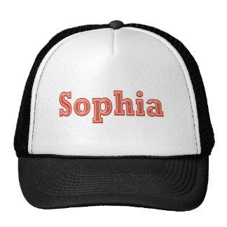 Texto del nombre   del chica de SOPHIA Sophie Gorro De Camionero