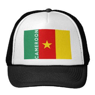 texto del nombre del símbolo de la bandera de país gorro