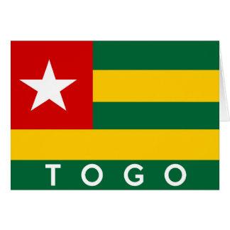 texto del nombre del símbolo de la bandera de país tarjeta de felicitación