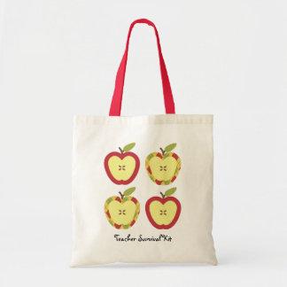 Texto del personalizable de las manzanas bolsa tela barata