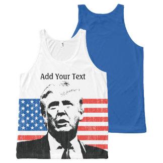 Texto del personalizado de la bandera americana de
