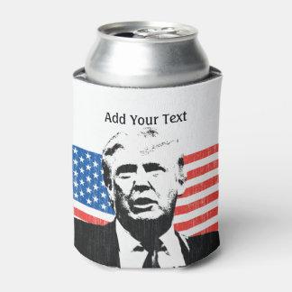 Texto del personalizado de la bandera americana de enfriador de latas