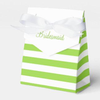 Texto del personalizado de la raya de la cal cajas para detalles de boda