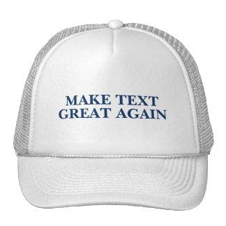 Texto del personalizado del camionero del triunfo gorros