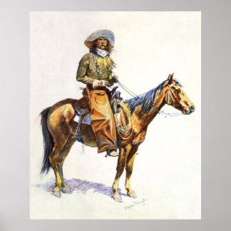 Texto del personalizado del vaquero de Arizona Posters
