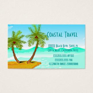 Texto del Plantilla-Cambio de la playa de la Tarjetas De Visita