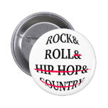 Texto del rock-and-roll pins