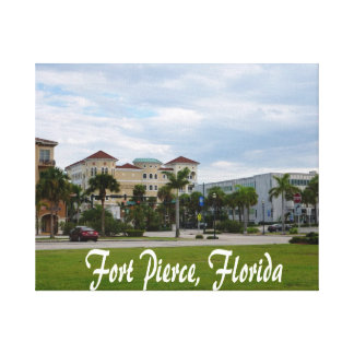 texto del sur céntrico de Fort Pierce w Impresion De Lienzo