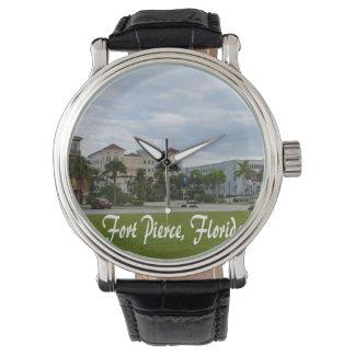 texto del sur céntrico de Fort Pierce w Relojes De Mano