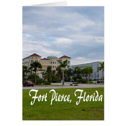 texto del sur céntrico de Fort Pierce w Tarjeta De Felicitación