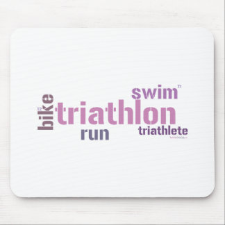 Texto del Triathlon Alfombrillas De Ratones