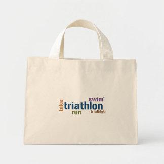 Texto del Triathlon Bolsa De Tela Pequeña