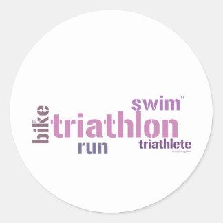 Texto del Triathlon Pegatinas Redondas
