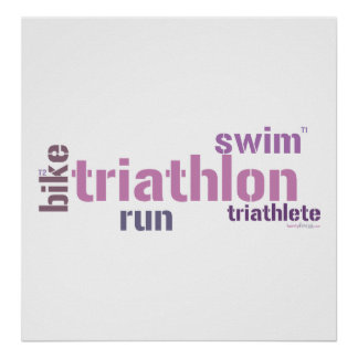 Texto del Triathlon Póster