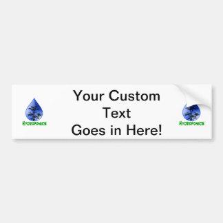 Texto del verde de la planta del bambú negro del h pegatina para auto