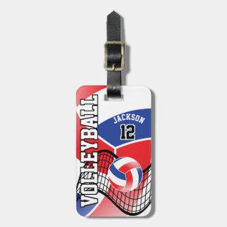 Texto del voleibol el | DIY del deporte - rojo, Etiquetas Para Maletas
