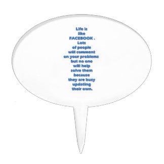 Texto divertido de Facebook Figuras Para Tartas