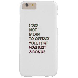 Texto divertido de la prima funda de iPhone 6 plus barely there