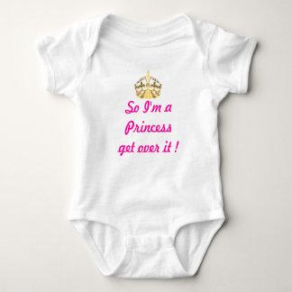 Texto divertido de la princesa mameluco de bebé