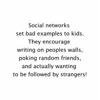 Texto divertido de las redes sociales escultura fotográfica