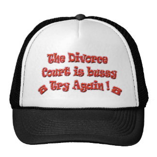 Texto divertido del divorcio gorro