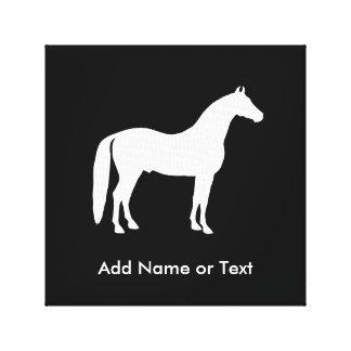 Texto elegante del personalizable del caballo lona envuelta para galerías