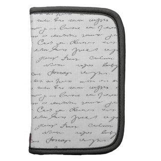 Texto escrito de la mano elegante planificadores