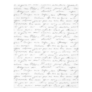 Texto escrito de la mano elegante plantilla de membrete