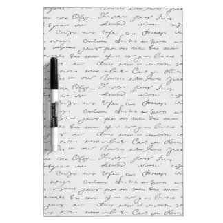 Texto escrito de la mano elegante tablero blanco
