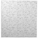 Texto escrito de la mano elegante servilleta de papel