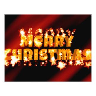 Texto estrellado de las Felices Navidad Tarjetas Publicitarias