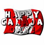 Texto feliz de la bandera del día de Canadá con la Esculturas Fotográficas