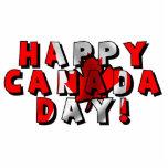 Texto feliz de la bandera del día de Canadá Esculturas Fotograficas