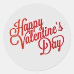 Texto feliz del el día de San Valentín Pegatina Redonda