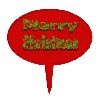 Texto festivo de las Felices Navidad Decoración De Tarta