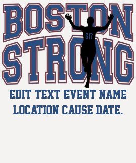 TEXTO fuerte de Boston Personalizable EDIT Camiseta