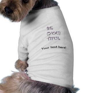 Texto hermoso tshirt de perro