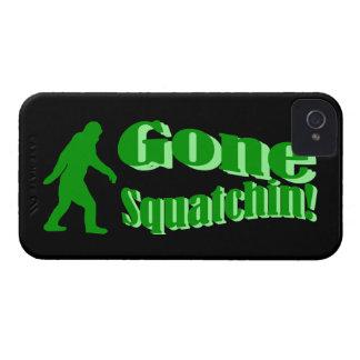Texto ido verde del lema del squatchin iPhone 4 cobertura